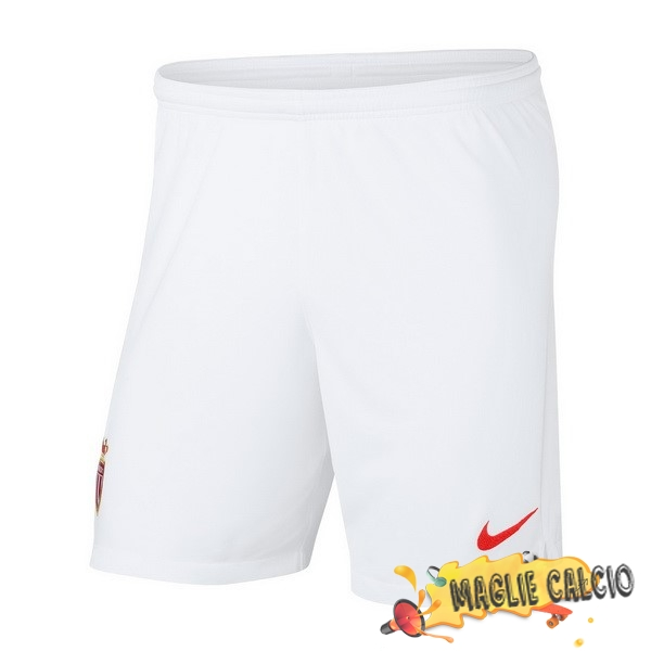 Accessori Maglie Calcio Nike Home Pantaloncini AS Monaco 18-19 Bianco