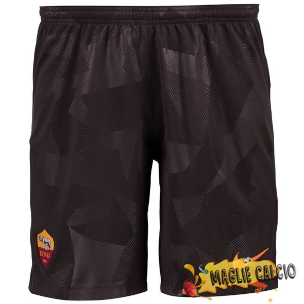 Accessori Maglie Calcio Nike Terza Pantaloncini As Roma 17-18 Nero