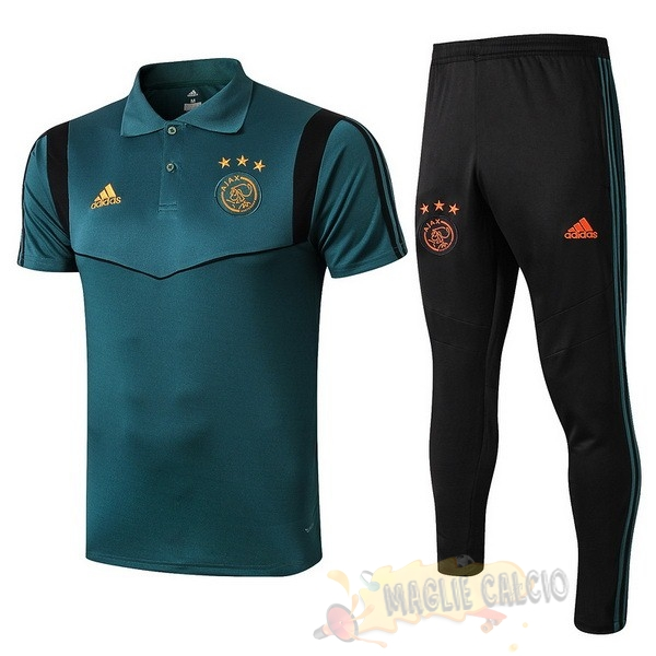 Accessori Maglie Calcio adidas Set Completo Polo Ajax 2019 2020 Verde