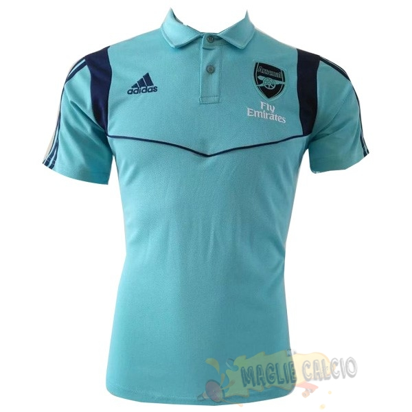 Accessori Maglie Calcio Adidas Polo Arsenal 2019 2020 Blu Luce