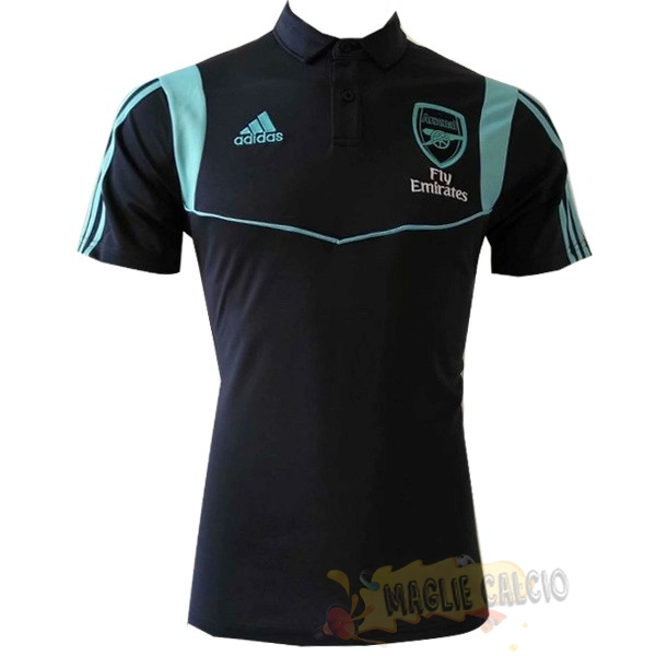 Accessori Maglie Calcio Adidas Polo Arsenal 2019 2020 Nero Blu