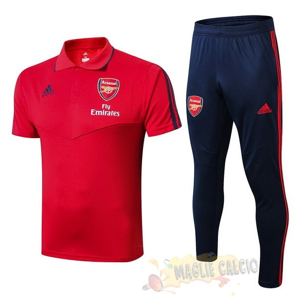 Accessori Maglie Calcio adidas Set Completo Polo Arsenal 2019 2020 RossoBlu