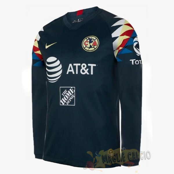 Accessori Maglie Calcio Nike Away Manica lunga Club América 2019 2020 Blu Navy