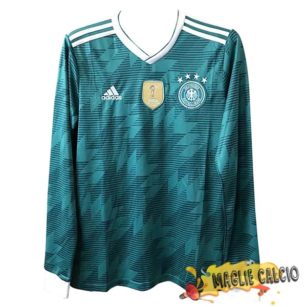 Accessori Maglie Calcio adidas Away Manica Lunga Germania 2018 Verde