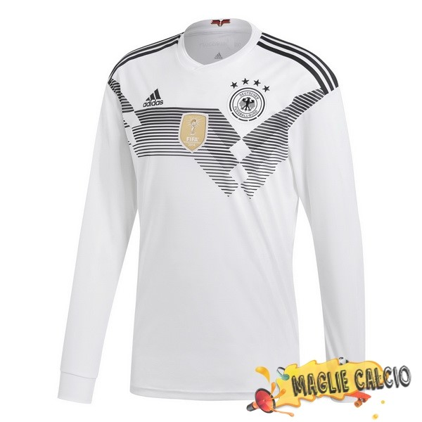Accessori Maglie Calcio adidas Home Manica Lunga Germania 2018 Bianco