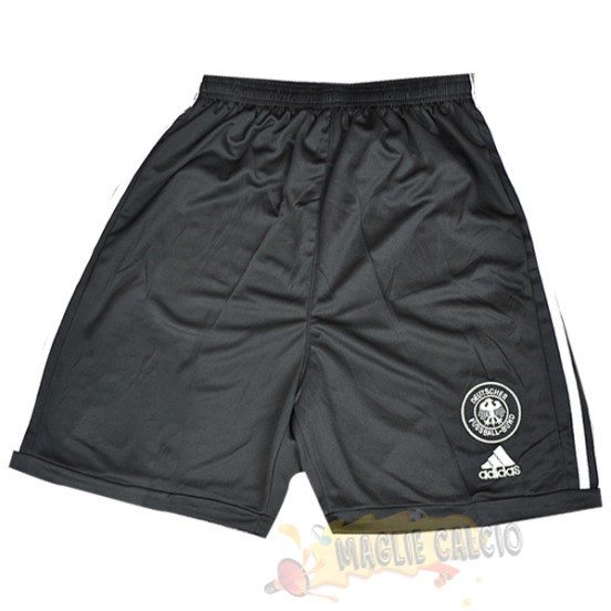 Accessori Maglie Calcio Adidas Home Pantaloncini Germania Vintage 2002 Nero