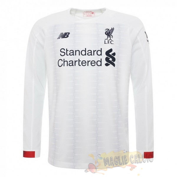 Accessori Maglie Calcio New Balance Away Manica lunga Liverpool 2019 2020 Bianco