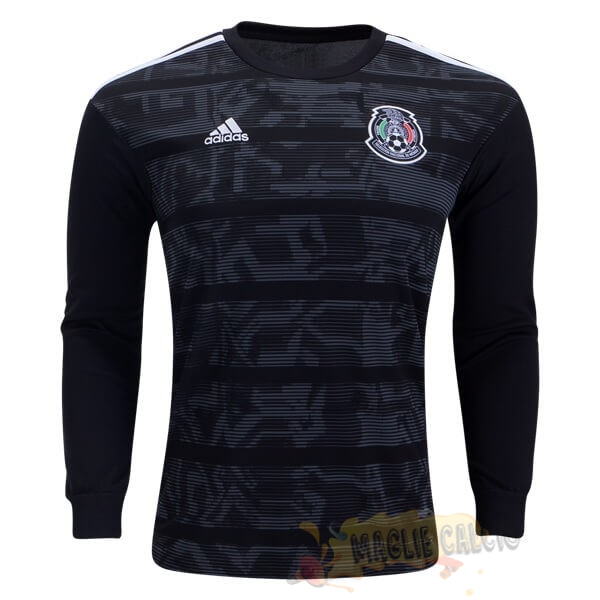 Accessori Maglie Calcio Adidas Home Manica lunga Messico 2019 Nero