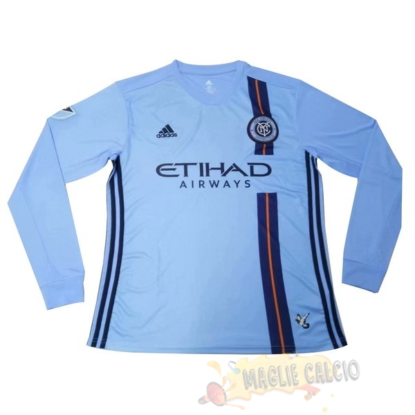 Accessori Maglie Calcio Adidas Home Manica lunga New York City 2019 2020 Blu