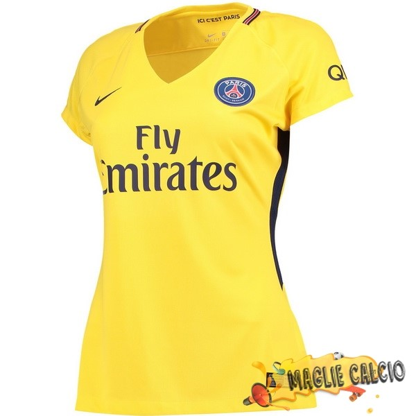 Accessori Maglie Calcio Nike Away Maglia Donna Paris Saint Germain 17-18 Giallo