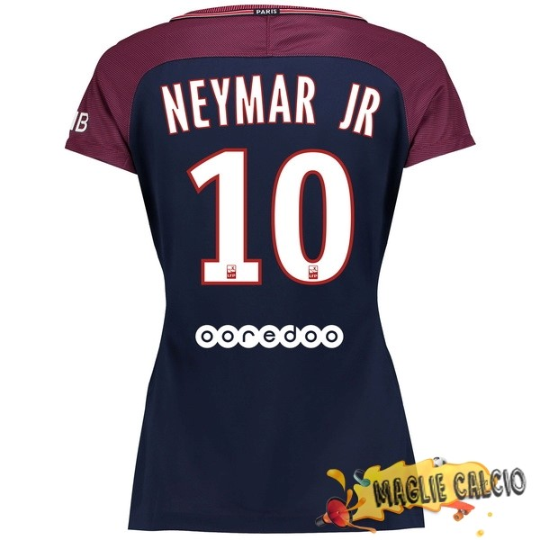 Accessori Maglie Calcio Nike NO.10 Neymar JR Home Maglia Donna Paris Saint Germain 17-18 Blu