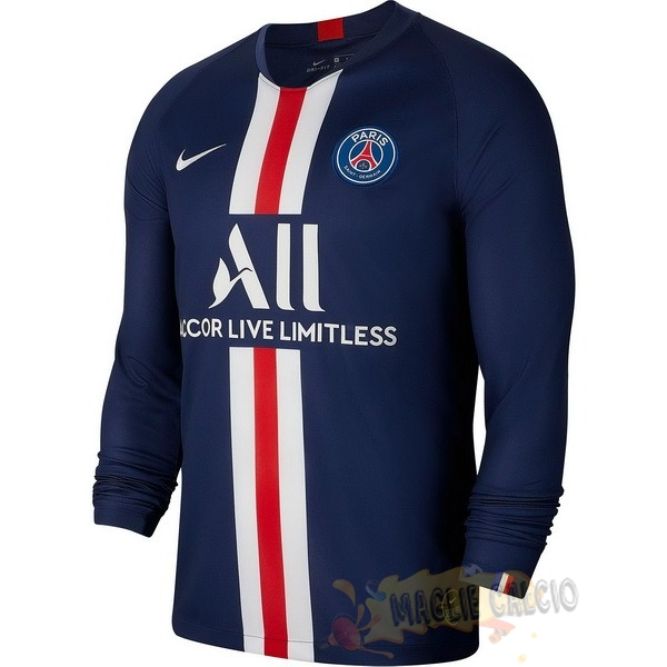 Accessori Maglie Calcio Nike Home Manica lunga Paris Saint Germain 2019 2020 Blu