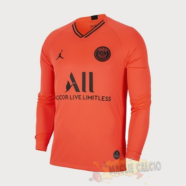Accessori Maglie Calcio JORDAN Away Manica lunga Paris Saint Germain 2019 2020 Oroange